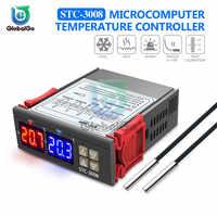 Digital Thermometer Temperaturregler Temperatur Controller NTC Sensor AC 110-220V STC-1000 3000 3008 3018 DST1020 MH1210W Smart Thermostat inkubator Für Industrielle Landwirtschaft