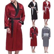 Nightgown Sleepwear Bathrobes Incerun Men Fashion Casual Man 5XL Patchwork V-Neck Comfy