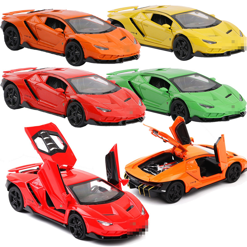1:32 hot lp770 car alloy sports car model diecast sound light super racing lifting tail car wheels toys for children