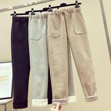 Fashion Women Pant Winter Thick Cashmere Pants Solid Winter