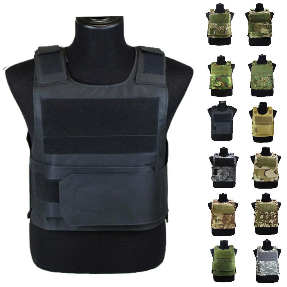 Tactical Molle Soft Vest Military Airsoft Outdoor Body Armor Shooting Paintball Adjustable Straps Combat Vest Outdoor Cs Game