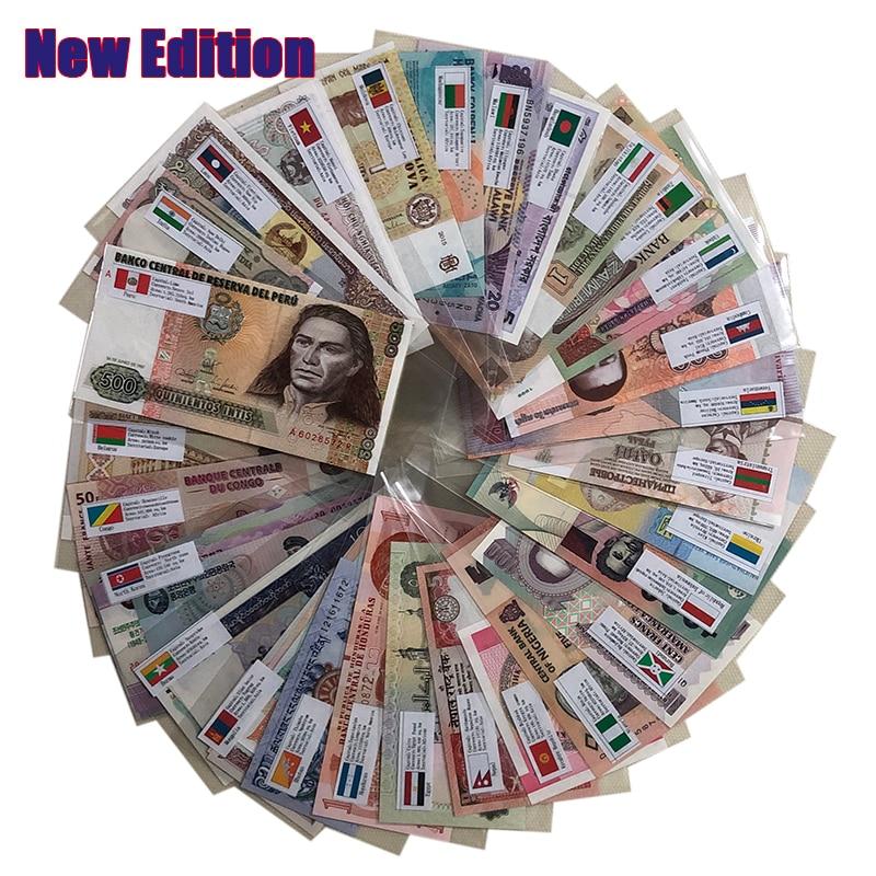Набор из 53 банкнот из 28 стран, состояние UNC, реальные оригинальные Банкноты (не используются сейчас), коллекция, подарок