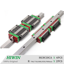 HIWIN HGW20 CNC components Linear Guide Rail and Blocks 700 750 800 850 900mm saw guides for Machine Center for z axis HGR20