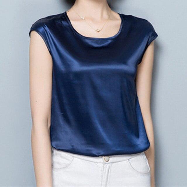 Women Blouses Casual OL Silk Blouse Summer Loose Basic Satin Shirt Work Wear Blusas Feminina Tops Shirts Plus Size XXXL/4XL Tops 3