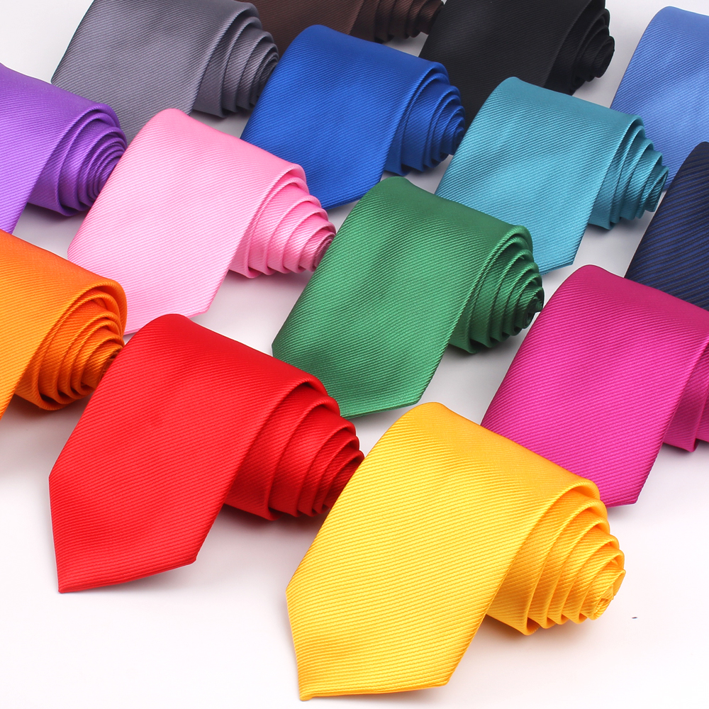 Candy Color Ties For Men Women Polyester Classic Neckties Mens Neck Ties 8cm Width Tie Skinny Solid Necktie For Wedding Party