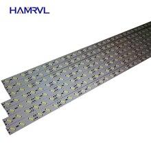 Barres lumineuses LED RGB, Smd, 0.5m, 5050 5730 7020 8520, 12V, blanc chaud froid, sous armoires, canaux de cuisine, Alu, 10 pièces/lot