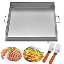 """1"""" x 18"""" сковородка из нержавеющей стали плоский высококлассный гриль для тройной сковородки кухонная утварь"""