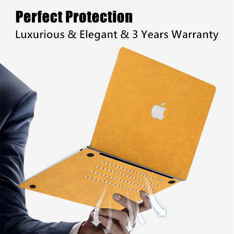 Pu Leather Shell Skin Cover Case Voor Apple Macbook Pro Air 13 13.3 15 16 11 12 Inch Laptop 2019 2020 Nieuwe A1932 A1706 A2289 A2141