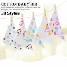 цена Baby Bibs For Boy&Girl bandana bib Burp Cloth Print animal Triangle Cotton Baby Scarf Meal Collar Burp baby Accessories онлайн в 2017 году