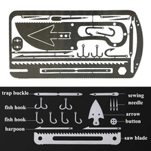 цена на Multifunctional Fishing Equipment Card Multifunctional Outdoor Camping Equipment Tool Hunting Fishing Tool Set