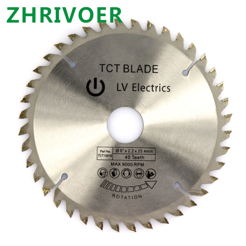 TCT Wood Alloy Saw Blade Hard Alloy Cutting Blade Wood Solid Circular Saw Blade 6 * 2.2 * 25.4