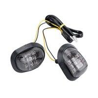 2x12 v âmbar motocicleta 9 led flush montar sinais de volta indicadores de luz blinker|  -