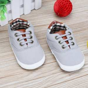 Sneaker Shoes First-Walker Soft-Sole Toddler Baby Casual Fashion Canvas Laces