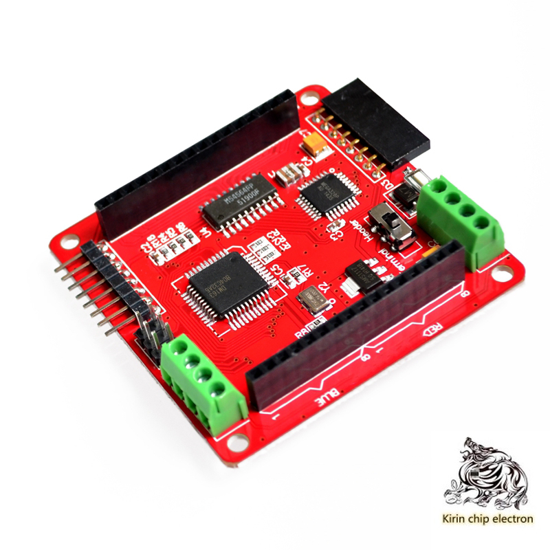 1pcs / Lot Full Color RGB LED Dot Matrix Drive Board Is Compatible With 60mm 8 * 8 Array