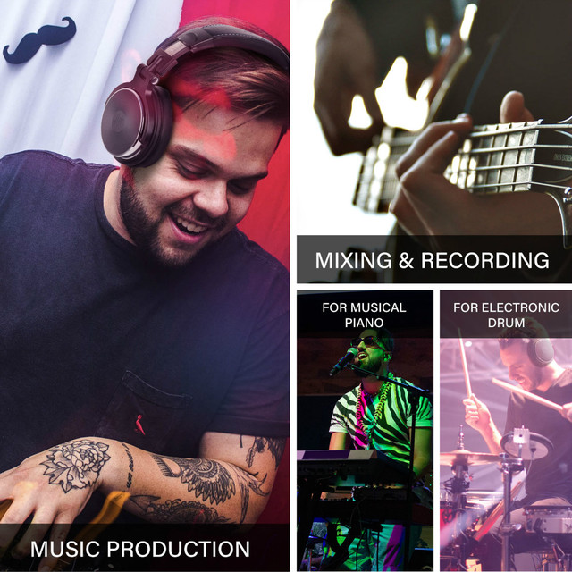 Oneodio Foldable Over-Ear Headphone Professional Studio Pro Monitors DJ Headset 6