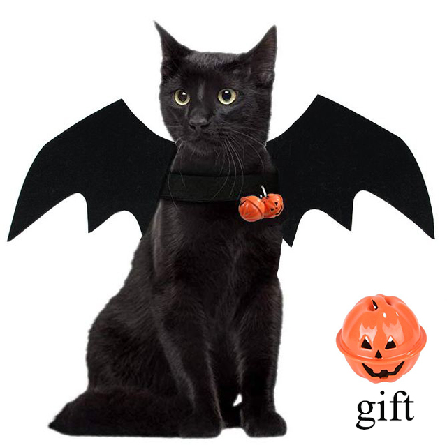 Halloween Pet Dog Costumes Bat Wings Vampire Black Cute Dress Cat Costume Pet Cosplay Clothing Cat Wings Halloween Costume 1