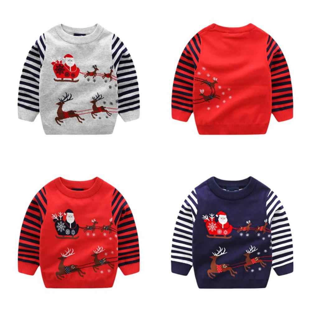 Toddler Girls Sweater Autumn Winter Baby Boy Girl Pullover Warm Clothes Children Cotton Christmas Sweater for 2-8 Years