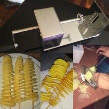 Руководство из нержавеющей стали скрученный картофель слайсер для жарки картофеля овощей спиральной формы резак для дома ресторан Knifives аксессуары
