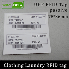 UHF RFID laundry tag Washable printable clothing chip 78x36 915 868 860-960M NXP Ucode7 EPC Gen2 6C smart card passive RFID tags uhf rfid tag heat and water resisting epc 6c 915mhz868mhz860 960mhz h3 20pcs free shipping smart passive pps rfid laundry button