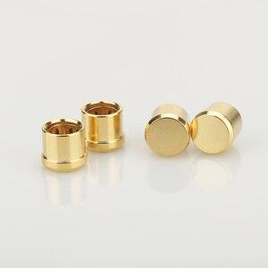 Image 5 - 16 pièces plaqué or RCA bouchon prise de court Circuit connecteur Phono RCA blindage prise jack protéger caches