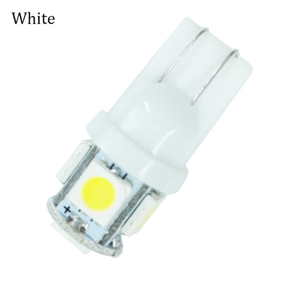 ECAHAYAKU 1pcs 12V LED T10 W5W 5050 5 SMD 194 168 LED White/Blue/Ice-Blue Wedge Lights Bulb Lamp Corner/Tail Lights Car Styling