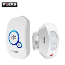 FUERS M557 DIY bezprzewodowy dzwonek bezpieczeństwo w domu System powitalny wykrywacz ruchu czujnik drzwi bezpieczeństwo silny dzwonek alarmowy