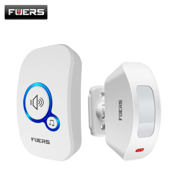 FUERS M557 Motion Sensor Alarm System Wireless Doorbell Home Security Buglar Alarm Motion Detector Door Sensor Security Doorbell doberman security entry defender with chime infrared motion detection home alert sensor ir doorbell home security alarm system