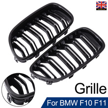 цена на For Car Exterior Parts 2pcs Dedicated Replacement Car Front Sport Grill Kidney Grilles For BMW F10 F11 5 Series M5 Gloss Black