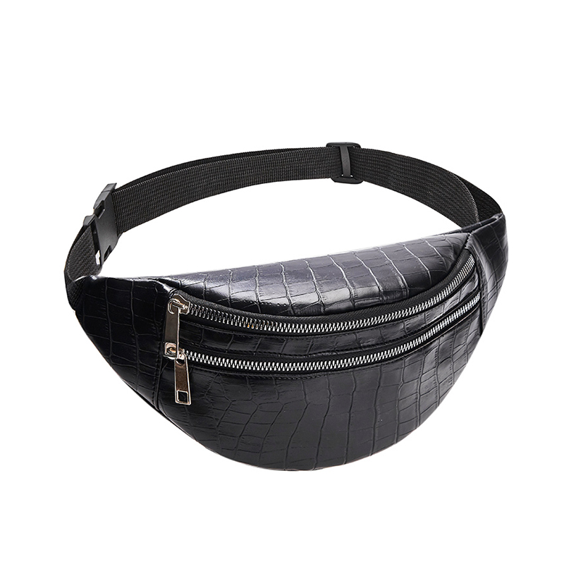 SHUJIN Belt Bag Waist Packs For Women Designer Brand Luxury Bag High Quality Crocodile Women PU Leather Bag Fanny Pack Message