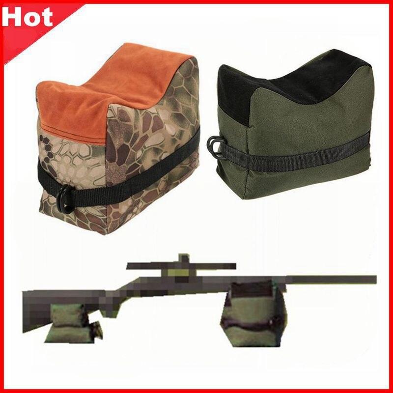 Keskin nişancı çekim çantası tabanca ön arka çanta hedef standı tüfek destek kum torbası tezgahı doldurulmamış açık Tack sürücü avcılık tüfek dinlenme
