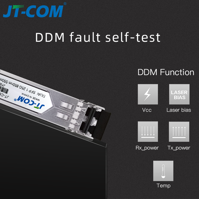 Module optique SFP 1 Gb Gigabit 850 nm 550 m DDM multimode duplex LC Mini Gbic 1.25 G Fibre Module SFP Module Tranceiver Module SFP compatible Switch Mikrotik Cisco