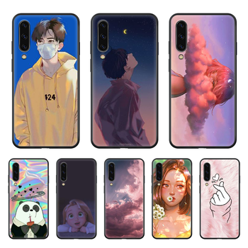 Simplicity lovely youth Phone case hull For Samsung Galaxy A 50 51 20 71 70 40 30 10 E 4G S black funda painting waterproof image
