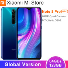 Versão global xiaomi redmi nota 8 pro 6gb ram 64gb rom smartphone 64mp quad cam 6.53