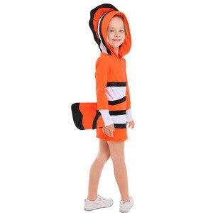 Image 3 - ピエロ魚衣装両親と子供海テーマパーティーコスプレ布幼稚園休日のパフォーマンス衣装