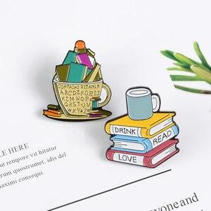 QIHE JEWELRY Books, эмалированные булавки серии «Книги Волшебные», рюкзаки, броши, значки, оптовая продажа, булавки, подарки для студентов, друзей