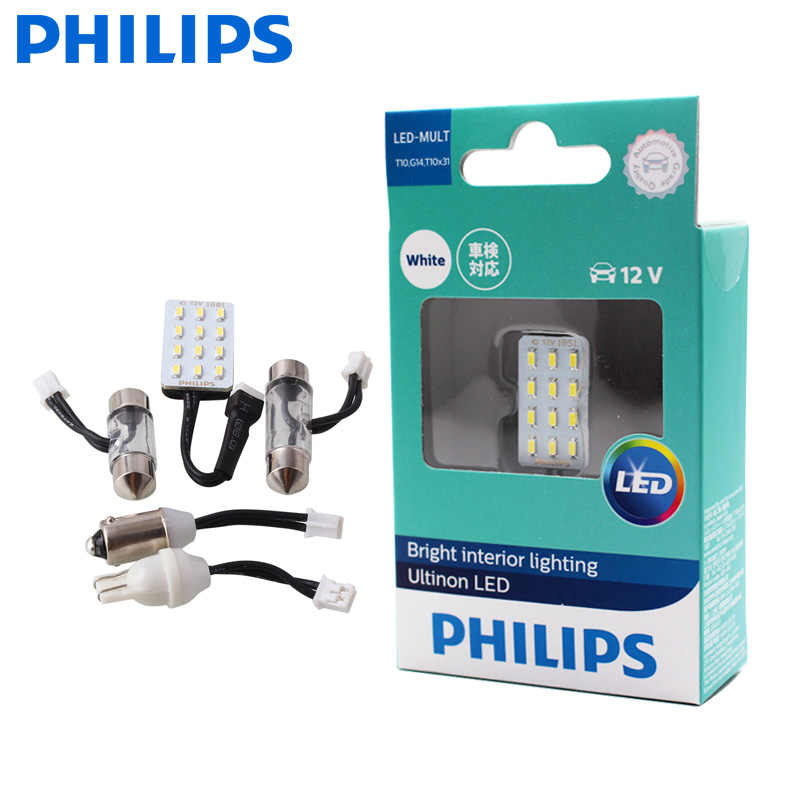 Philips Led Multi T10 G14 Led Multi Prises Lampe De Lecture 6000k Blanc Lumiere Interieure 12957ulwx1 Fit Sv8 5 8 W2 1x9 Signal Lamp Aliexpress