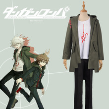 Anime Super Danganronpa 2 Nagito Komaeda Nagito Cosplay Costume Adult Hoodies Army Green Zipper Jacket T Shirt Pants Halloween
