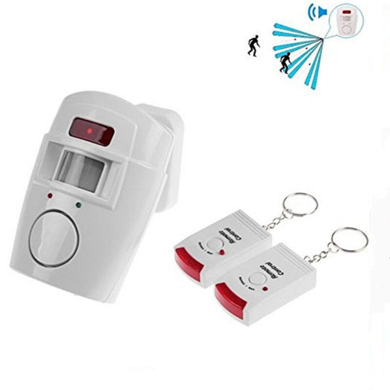 Wireless Remote Controlled Mini Alarm With IR Infrared Motion Sensor Detector & 105dB Loud Siren For Home Security Anti-Theft