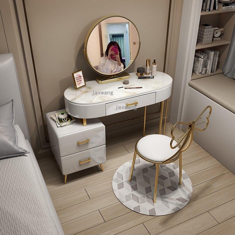 Dressing Tisch Schlafzimmer Mobel Moderne Luxus Hause Kommoden Nordic Ins Eitelkeit Make Up Tisch Schrank Eine Dressing Stuhl Aliexpress
