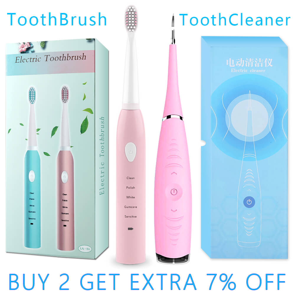 Electric Toothbrush Sonic Dental Scaler Portable Remover Stain Tartar Dentist Oral Hygiene Ultrasonic Tooth Calculus Cleaner Set image