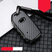 Estojo de chave de carro de liga de zinco + sílica, capa para kia 2018 2019 3/4 botão sportage r stinger remoto sorento cerato forte escudo de proteção