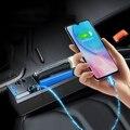 Универсальный органайзер для сиденья на 2/3 кабелей, карманный органайзер с разрезом на сиденье автомобиля, чехол из АБС-кожи, автомобильная ...
