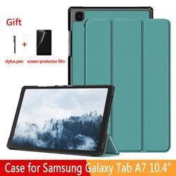 Coque pliable réglable pour tablette Samsung Galaxy Tab A7 10.4 SM-T500/T505, coque pour Samsung Galaxy Tab A7 10.4 2020