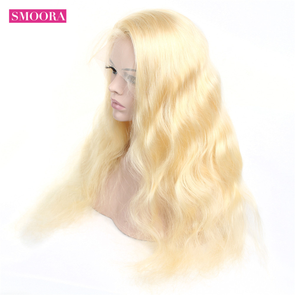 13x4 Lace Front Wig 613 Honey Blonde 30inch Lace Frontal  Hair Body Wave   Wig Baby Hair Transparent 5