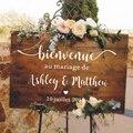 Виниловые наклейки во французском стиле, свадебные зеркальные виниловые наклейки на заказ, Wedding Welcome Sign, романтическое свадебное украшение ...