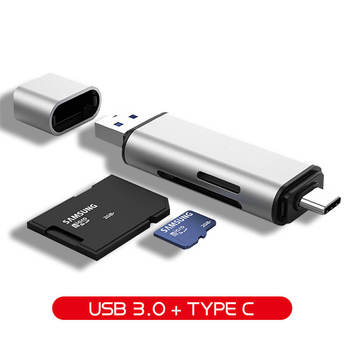 Hannord USB 3.0 Memory Card Reader Type C to SD Micro SD TF Adapter for Laptop PC OTG Cardreader Smart Memory SD Card Reader