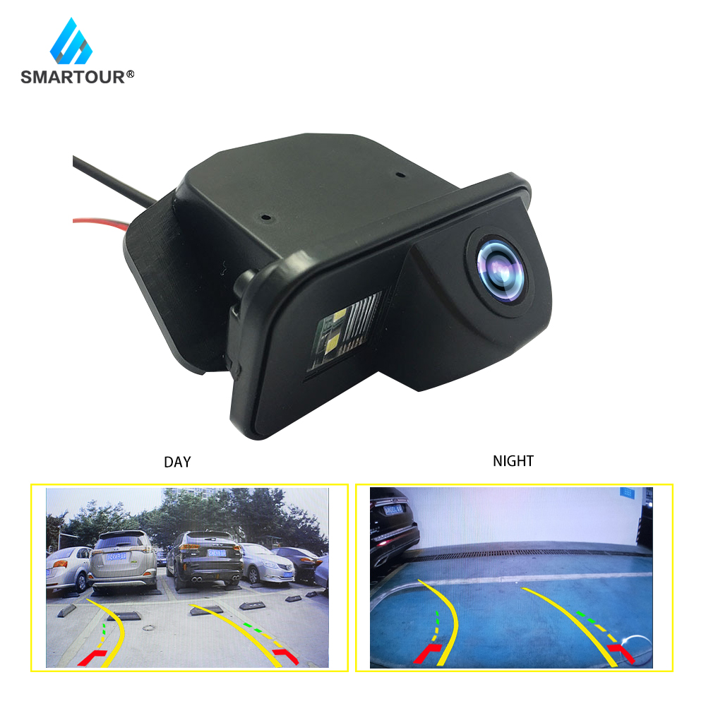 Smartout Trajectory Car Rear View Reversing Camera for Toyota Corolla Auris Avensis T25 2011 2012 2013 Back Up Parking Camera image