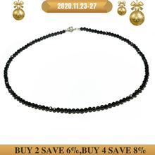 Lily biżuteria Shining Choker naszyjnik czarny Spinel 925 srebro moda czeski hawaje naszyjnik na obojczyk Dropshipping