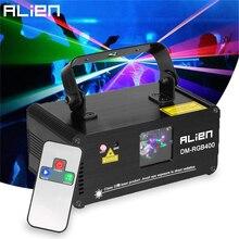 ALIEN Remote RGB Laser Beam Scanner Stage Lighting Effect DMX Laser Projector Lumiere Disco Dj Party Club Holiday Wedding Lights