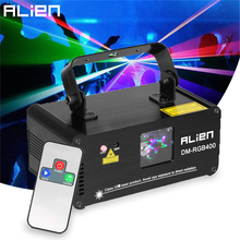 ALIEN Remote RGB Laser Beam Scanner Stage Lighting Effect DMX Laser Projector Lumiere Disco Dj Party Club Holiday Wedding Lights